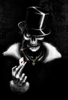 Baron samedi, ghede, senor d la muerte, mito haiti Baron Samedi, Dark Fantasy Art, Grim Reaper Art, Skull Pictures, Skull Artwork, Skull Wallpaper, Skull Tattoos, Skull And Bones, Black Art