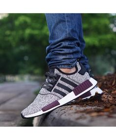 huge selection of b172c d1861 Champs Adidas NMD Grey Black Burgundy Shoes The most popular Adidas style,  limited edition,