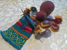 Knit-ception. A knitted toy based on my knitting tattoo based on a knitted toy