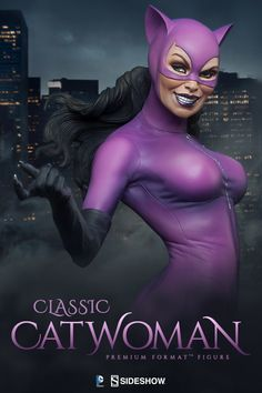 DC Comics Classic Catwoman Premium Format(TM) Figure by Side Deadpool Funny, Catwoman Cosplay, Purple Suits, Spiderman Art, Sideshow Collectibles, Guys Be Like, Gotham City, Cosplay Girls, Cosplay Costumes