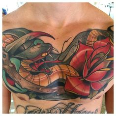 David Tevenal - Tattooer Healed chest piece