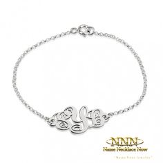 Looking for personalized jewelry that is customized to your personality? Shop syrcStyle for custom jewelry, monogram jewelry, and accessories. Monogram Bracelet, Monogram Jewelry, Personalized Bracelets, Monogram Initials, Custom Jewelry, Unique Jewelry, Jewelry Ideas, Sterling Silver Bracelets, Women Jewelry