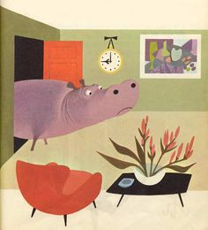 Isidore L'Hippopotame  Elisabeth Brozowska  Éditions des Deux Coqs D'Or 1969