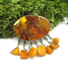 Insect Cabochon Golden Scorpion 39 mm Round inner 36 mm Amber clear 3 Pieces Lot
