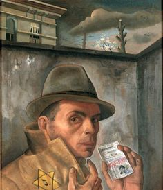 'Self-Portrait with Jewish Passport' (1943) by German artist Felix Nussbaum (1904-1944). collection: Jewish Museum, Paris. via RasMarley on Flickr