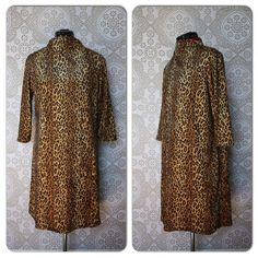 Vintage 1960's Leopard Print Mod Mini Dress M/L by pursuingandie, $72.95
