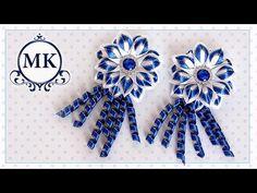 Красивые цветы канзаши из лент, МК  /  DIY satin ribbon flower, kanzashi - YouTube