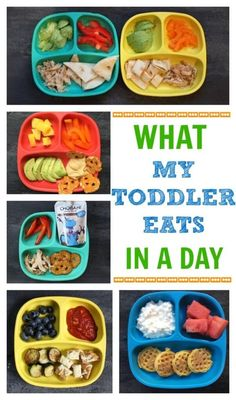 e had the luxury of making meals for a toddler you?l quickly appreciate the one constant that comes from creating a toddler feeding routine. a look at what my toddler eats in a day- from breakfast to dinner and snacks included! Healthy Toddler Meals, Healthy Kids, Kids Meals, Toddler Food, Toddler Dinners, Healthy Lunches, Healthy Toddler Breakfast, Toddler Finger Foods, Toddler Meal Plans