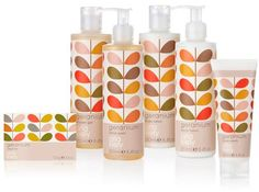 Entitled Orla Kiely Geranium, the new range of bodycare from Orla Kiely uses a blend of essential oils to create a truly unique range of products with attractive and distinctive packaging. Prices range from £5 - £24 www.oldrids.co.uk
