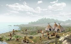 The camp of a prehistoric clan by Trebol Animation