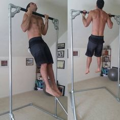 Charles Rankin (@crankin8611) and his #KeeKlamp pull up bar.  He will be attempting to break the world record for the most chin ups in a 24 hour period.  Go Charles!  #simplifiedbuilding #worldrecord #chinups