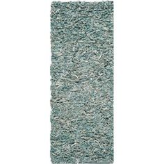 Safavieh Hand-Knotted Leather Shag Area Rug, Blue