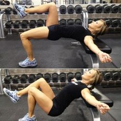 Total-Body Workout Plan: One Leg Hip Thrust - Heavy Lifting: Sculpt a Stronger, Leaner, Slimmer Body - Shape Magazine - Page 6 Fitness Workouts, Butt Workout, Fitness Goals, Fitness Tips, Fitness Motivation, Shape Fitness, Hip Thrust Workout, Leg Workouts, Health Fitness