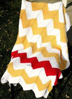 chevron crochet blanket tutorial