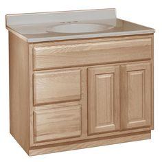 Unfinished Oak Bathroom Vanity Sink Drawer Base Cabinet 48 Pinterest Vanities And Sinks