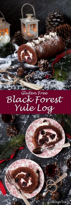 Black Forest Yule Log Find fun, inventive and achievable recipes for just about any occasion. We've got you covered for sweet treats, mean meals & delicious drinks Chocolate Yule Log Recipe, Chocolate Log, Chocolate Roll Cake, Holiday Cakes, Christmas Desserts, Christmas Baking, Christmas Foods, Christmas Treats, Christmas Recipes