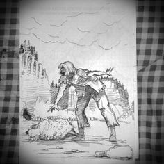 """Tale of the Wawel Dragon"" panel 2 of 3-storyboart design"