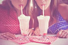 This makes me really want summer and ice cream and a photoshoot with red lipstick in a cute diner.