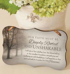 Unshakable Mounted Print Plaque  -