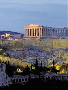 Parthenon on Acropolis, Athens (regarded as one of the world's greatest cultural monuments, completed 432 BC)