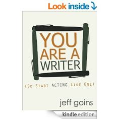 You Are a Writer (So Start Acting Like One) by Jeff Goins Writers write. We do other stuff, too, but if we don't write we have to stop telling people we are writers. Jeff reminds us of that in his new ebook. Creative Writing, Writing A Book, Writing Tips, Writing Images, Writing Process, Start Writing, Becoming A Writer, I Am A Writer, The Words