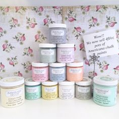 Wow! We now stock 4fl/oz pots of Americana chalk paint.. Ideal for all your smaller projects with a great variety of 26 colours to choose from!