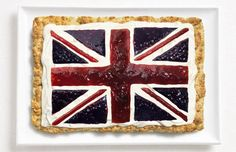 Union Flag created from scone, cream and jam for the Sydney International Food Festival chw