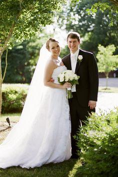 Nashville Garden Wedding Venue | White Bridal Bouquet - Photo: JHenderson Studios