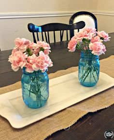 These make the perfect centerpiece for a gender reveal!   Pink or Blue? Baby, What are ewe?   Lamb inspired pink & blue gender reveal party ideas! Works great for baby shower ideas too!