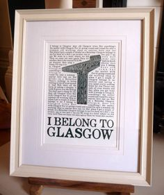 Glasgow Print by DeadFamousCities on Etsy, £23.00