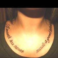 """a smooth sea never made a good sailor"" tattoo"