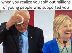 Bernie Supporters, you have been BURNED! #BERN OUT