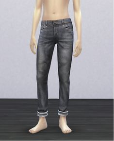 Sensible but still-distressed jeans for Sasha Hinsley; this guy identifies with the transient lifestyle but not so much the crusty look