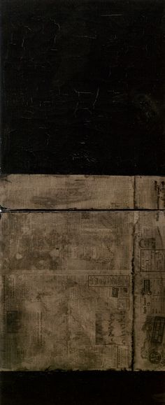Black Paintings: Robert Rauschenberg