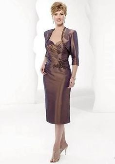 new free jacket Mother of the bride dress Knee-length