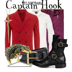 Captain Hook by leslieakay on Polyvore featuring Phonz Says Black, Rachel Roy, Fiorentini + Baker, Tiger of Sweden, Scotch & Soda, Topman, Disney and disney