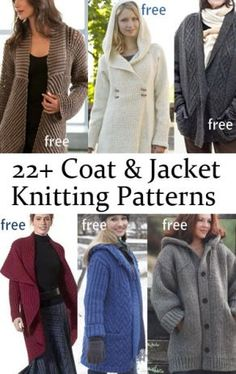 Free Jacket and Coat Knitting Patterns More