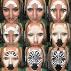 Maquilla painting face kids galleries new ideas Face Painting Tutorials, Face Painting Designs, Body Painting, Animal Face Paintings, Animal Faces, Halloween Make Up, Halloween Nails, Halloween Face, Maquillage Halloween Clown