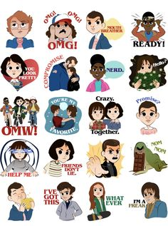 has Stranger Things stickers now! Netflix Stranger Things, Stranger Things Characters, Stranger Things Quote, Stranger Things Aesthetic, Stranger Things Season 3, Eleven Stranger Things, Harley Queen, Stranger Danger, Tumblr Stickers