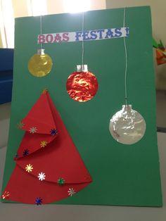 Cartão de natal para mesa