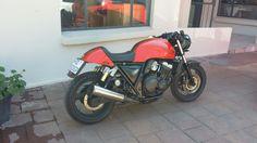 My bike cb400sf cafe racer
