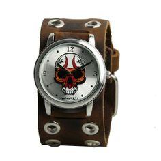 #Herrklocka Nemesis - Brown Eyelet Skull Läcker klocka från Nemesis #nemesis #punk #rock #skull #death #watch #klocka #armbandsur