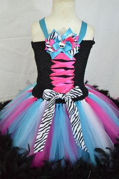 New Monster High TuTu Dress by TutuSweetBoutiqueINC on Etsy, $40.00: