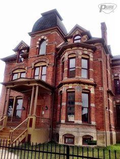 Detroit 1885. We love our vintage building!!