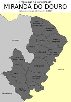 Freguesias do concelho de Miranda do Douro