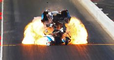 John Force blows his funny car's engine in a fireball Nhra Drag Racing, Usa Today Sports, Funny Cars, Car Engine, Car And Driver, Car Humor, Engineering, Fan, Mechanical Engineering