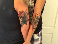 Skull tattoo for couples