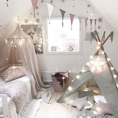 Tee pee in girls room