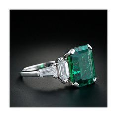 Vintage Emerald Ring ($38,700) found on Polyvore