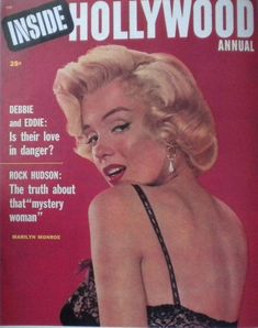 "Marilyn Monroe in a 1953 photo by John Florea on the front cover of ""Inside Hollywood Annual"" magazine from USA, 1955."